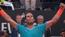 VINTAGE Rafa Nadal Forehand Winners v Tsitsipas | Rome 2019 Semi-Final