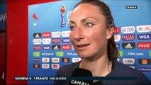La réaction de Gaëtane Thiney après Nigéria / France