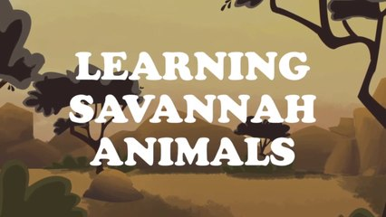LEARNING SAVANNAH ANIMALS