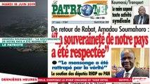 """Le Titrologue du 18 Juin 2019 : Amadou Soumahoro, """"La souveraineté de notre pays a été respectée"""""""