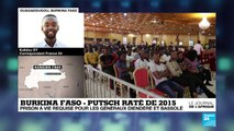 Burkina : prison à vie requise pour les cerveaux présumés du putsch raté de 2015