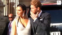The romantic kiss between Ramos and Pilar Rubio after getting married
