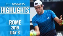 Berrettini Beats Zverev; Kyrgios Entertains! | Rome 2019 Highlights Day 3