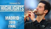 Novak Djokovic Wins Madrid, 33rd Masters 1000 Title! | Madrid 2019 Final Highlights