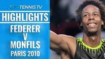 Dramatic Moments in Epic Monfils v Federer Match | Paris 2010