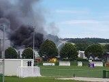 Incendie à Cour et Puis en Isère