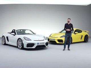 Présentation des Porsche 718 Cayman GT4 et 718 Spyder