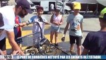Le port de Corbières nettoyé par des élèves de l'Estaque