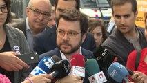 """Aragonès considera un """"error"""" que Sánchez no se reúna con Torra"""