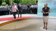 Зеленский в Берлине: Крым, Донбасс, Северный поток - 2 и здоровье Меркель. DW Новости (18.06.2019)