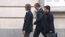 El vicepresidente del Govern Pere Aragonès llega al TS