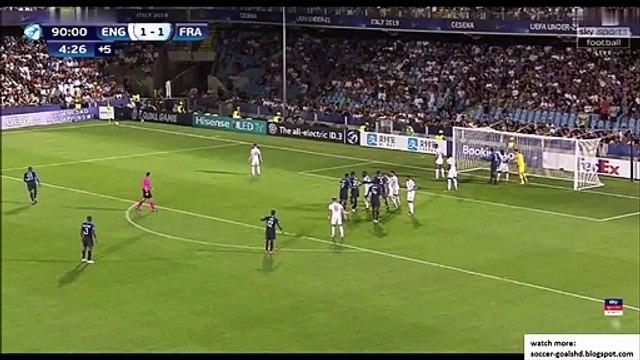 England U21 1-2 France U21 - Wan-Bissaka funny own goal