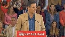 """Sánchez dice que si gobierna """"no habrá independencia en Cataluña"""""""
