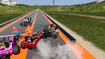 Four Best Friends Have a Lego Race Down a Mountain and Race Track in Lego Brick Rigs