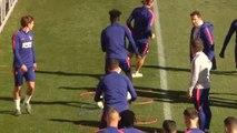 Entrenamiento del Atlético: Godín se reincorpora al trabajo y Costa participa en la segunda parte