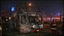 Al menos 20 muertos en el incendio de un autobús en Perú