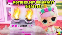 LOL Surprise Unicorn Mother's Day Breakfast In Bed Disaster