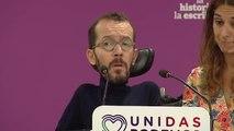 """Echenique asegura que aún """"quedan a preguntas abiertas"""" sobre la actuación de Pedro Sánchez en las llamadas """"cloacas del Estado"""""""