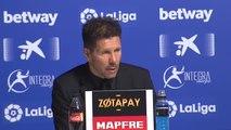 """Simeone: """"Tenemos que competir hasta el último suspiro que nos dé la Liga"""""""