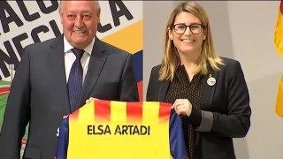 Artadi presenta el encuentro de futbol amistoso entre Catalu