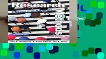 [MOST WISHED]  Research Methods, Design, and Analysis