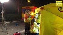 Un joven de 26 años herido grave en Madrid tras un accidente de moto