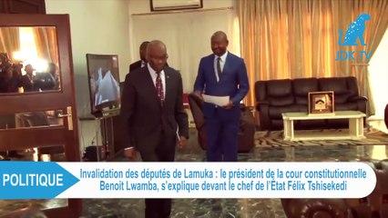 RDC : Le Pdt de la cour constitutionnelle BENOIT LWAMBA reçu par le président TSHISEKEDI