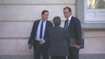 Torra visita el Tribunal Supremo durante el juicio del 'procés'