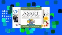 About For Books  Asset Allocation: Balancing Financial Risk, Fifth Edition: Balancing Financial