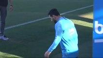 Última sesión del Barça antes de viajar a Sevilla