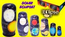 Planets Nesting Dolls SOLAR ECLIPSE Toy Surprises Solar System Nesting Dolls Stacking Cups