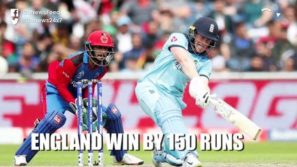 CWC19 - England beat Afghanistan by 150 runs (Report)