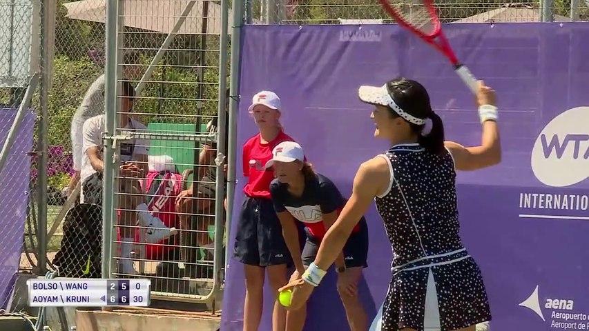 20190618 WTA Mallorca R1 Aliona Bolsova & Yafan Wang 0-2 Shuko Aoyama & Aleksandra Krunic - Last 4 Games