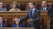 """Pedro Sánchez: """"Señor Casado, tiene la lengua muy larga y las patas muy cortas"""""""