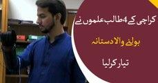 4 students from Karachi invents speaking glove