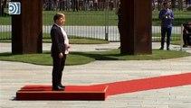 Angela Merkel sufre violentos temblores durante un acto oficial en Berlín