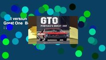 Full version  GTO: Pontiac's Great One  Best Sellers Rank : #3