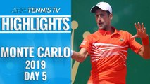 Djokovic and Nadal Cruise ; Zverev And Thiem Shocked | Monte-Carlo 2019 Highlights Day 5
