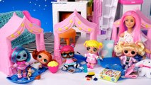 Barbie Doll LOL Family Baby Goldie First Slumber Party in the New Barbie House-