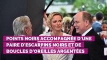 PHOTOS. Charlène de Monaco, sublime en robe blanche à pois, pour la cérémonie de clôture du Festival de Monte Carlo