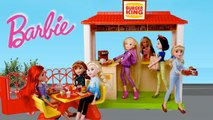 Barbie Rapunzel Doll Fast Food Burger King Restaurant Toy - Titi Toys Barbie Videos