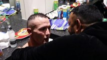 PRINCE NASEEM HAMED CONGRATULATES JOSH WARRINGTON MOMENTS AFTER HIS WIN AGAINST KID GALAHAD IN LEEDS