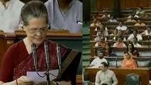 Sonia Gandhi takes oath as Lok Sabha member, BJP MP's chants | Oneindia News