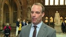 Dominic Raab says he is backing Boris Johnson