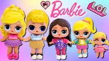 Custom Barbie DIY LOL Surprise Family - Ken, Skipper, Stacie and Chelsea