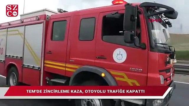 TEM'i kilitleyen kaza: İstanbul yönü bir süre ulaşıma kapandı