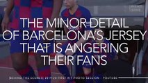 This Detail On Barcelona's New Jersey Angers Their Fans
