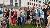 Ils manifestent devant l'ancien bâtiment des Beaux-Arts de Lyon
