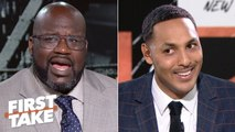 Shaq in shock after Hollins says neither Kobe nor MJ can fill LeBron's shoes - First Take