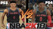 NBA 2K18 PS3 VS PS4 COMPARISON / REVIEW